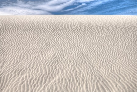 White Sands National Monument is Located in New Mexico and is One of the World's Gypsum Sand Collections Banque d'images - 101151315