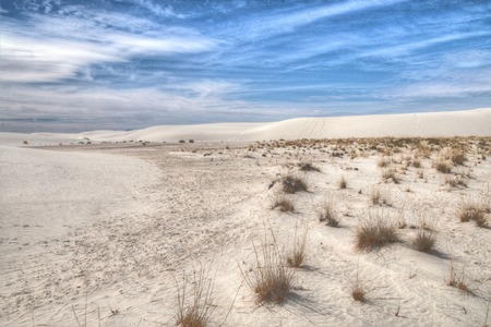 White Sands National Monument is Located in New Mexico and is One of the World's Gypsum Sand Collections Banque d'images - 101151141