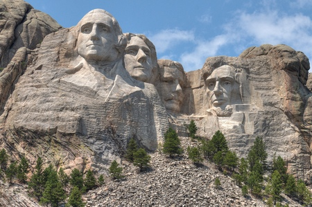 Mt. Rushmore is een beroemd nationaal monument in South Dakota