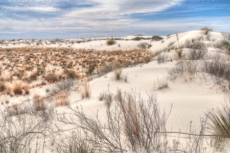 White Sands National Monument is Located in New Mexico and is One of the World's Gypsum Sand Collections Banque d'images - 101150760