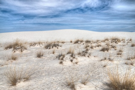 White Sands National Monument is Located in New Mexico and is One of the World's Gypsum Sand Collections Banque d'images - 101150648