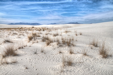 White Sands National Monument is Located in New Mexico and is One of the World's Gypsum Sand Collections Banque d'images - 101150627