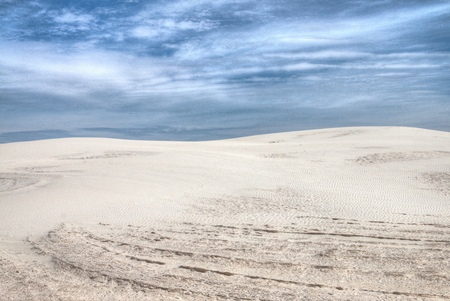 White Sands National Monument is Located in New Mexico and is One of the World's Gypsum Sand Collections Banque d'images - 101150629