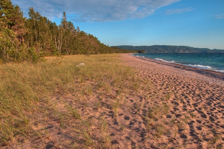 Lake Superior Provincial Park is on the Shore of the Lake in Northern Ontario, Canada