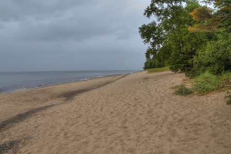 The Painted Rocks National Lakeshore in Upper Michigan has a wide variety of Attractions Stock fotó - 101982975