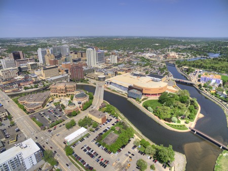 Rochester is a Major City in South East Minnesota centered around Health Care 스톡 콘텐츠 - 102012601