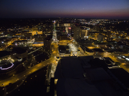 로체스터는 건강 관리를 중심으로 한 미네소타 동남부의 주요 도시입니다. 스톡 콘텐츠 - 102136743