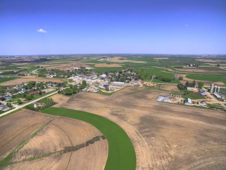 알투라는 미네소타 극 남동부에있는 작은 농업 공동체입니다. 스톡 콘텐츠 - 102327834