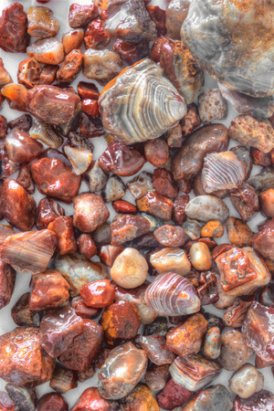 Lake Superior Agates are the State Gem of Minnesota 스톡 콘텐츠