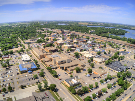 Wilmar is a small City in South West Minnesota with several Lakes 스톡 콘텐츠 - 105230275