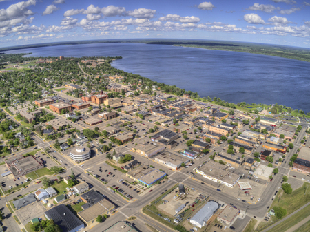 Bemidji is a Town in Central Minnesota on the Shores of a Lake with the same Name