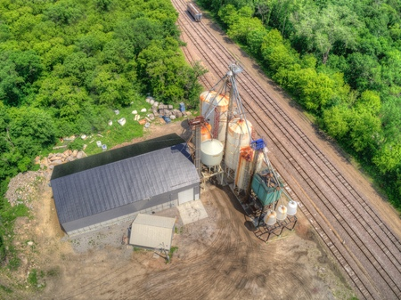 Aerial View of a Storage Facility for Water Softening Salt