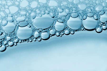 bulles de savon: Bulle bleu