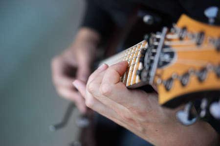 Close Up Of Guitar photo