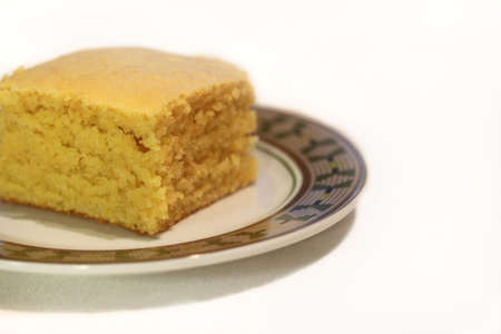Close Up Of Corn Bread On A Plate