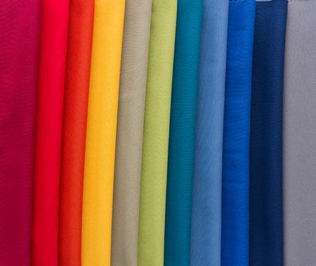 swatches: Different Multi colored fabrics for upholstered furniture, chairs, sofas, etc  Stock Photo
