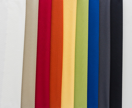 upholster: Different Multi colored fabrics for upholstered furniture, chairs, sofas, etc  Stock Photo