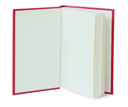 open spaces: Open red book isolated on white with clipping path