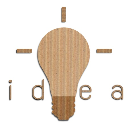 Light bulb background, made from brown paper, get idea concept. Stock Photo - 19417066