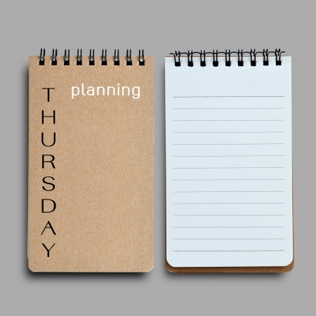 thursday: Thursday planning. Business concept on daily working plan.