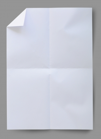 scrunch: Wrinkled white paper with clipping path. Stock Photo