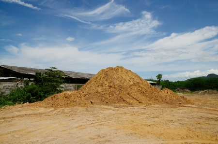 Heap of soil. photo