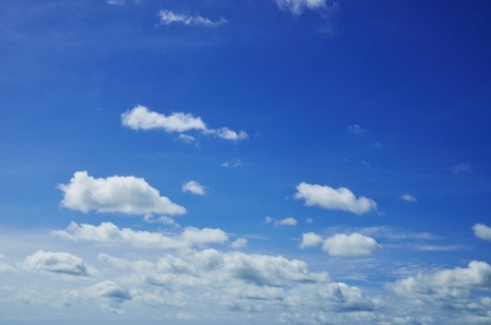 calm background: Blue sky with white cloud.