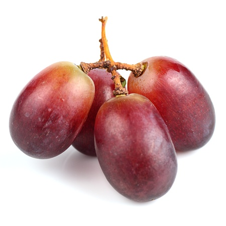 Red grapes isolated on white. Stock Photo - 19416680