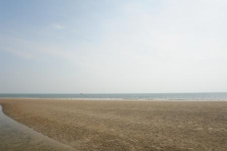 hin: Landscape of beach and sea in Hua Hin, Thailand. Stock Photo