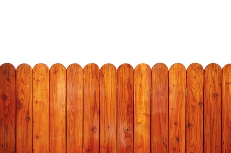 fence panel: Grunge wooden fence isolated on white, clipping path