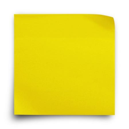 흰색 배경에 노란색 스티커 용지 참고