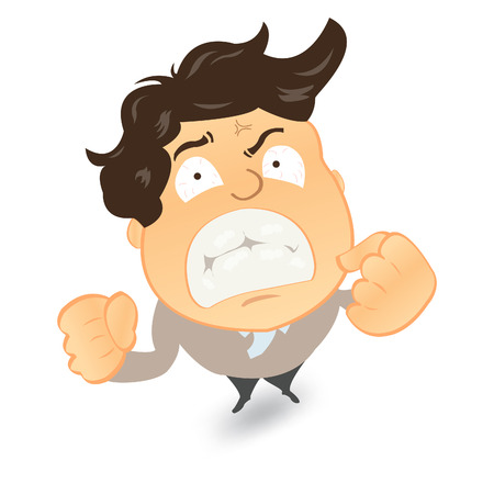 failed: Angry and frustrated businessman