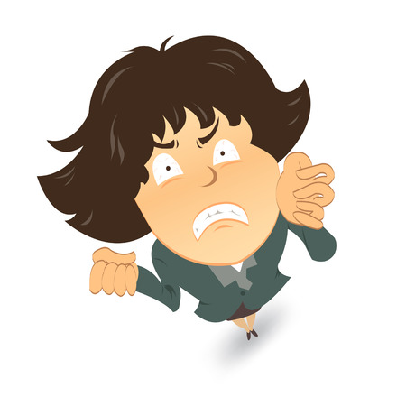 mujer enojada: Frustrado o enojado empresaria; Vectores
