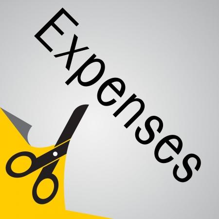 gastos: Cortar los gastos Vectores