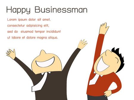 Gelukkige zakenman en partner met kopie ruimte