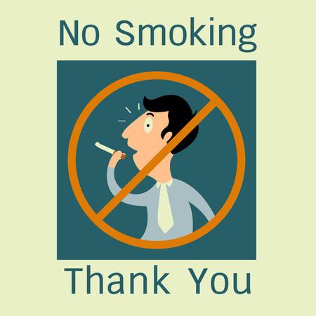 hombre fumando: No fumar signo  Vectores