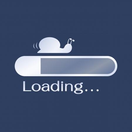 despacio: Carga demasiado lento en el ordenador, en comparación con más lento que el caracol