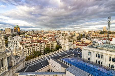 Roofs landscape Madrid