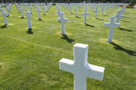 omaha: White crosses at Omaha American cemetery