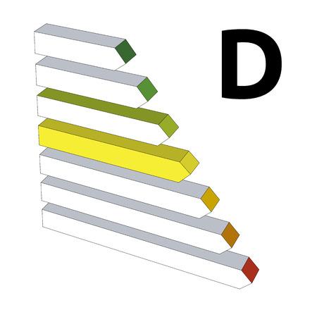 perfomance: Energy perfomance label D Illustration