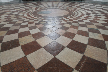 marble stone: Marble pavement in a church