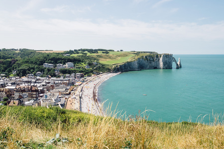 normandy: Cliffs of Etretat in Normandy, France