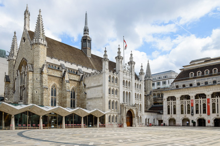 guildhall: LONDON, UK - AUGUST 21, 2015:  The London Guildhall is home to the City of London Corporation and acts as a venue for royal occasioning, banquets and other various prestigious events.