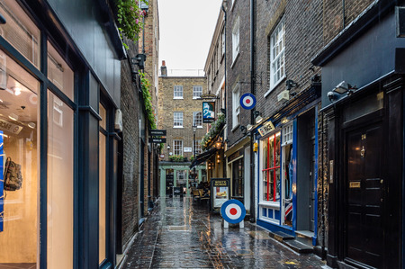LONDON, UK - AUGUST 24, 2015: View of Carnaby Street. Carnaby Street is a pedestrianised shopping street in Soho in the City of Westminster, London Editorial