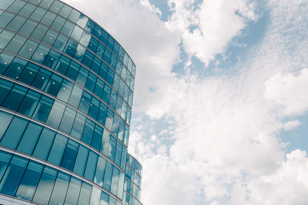 low  angle: LONDON, UK - AUGUST 22, 2015:  Low angle view of an office building in London near City Hall