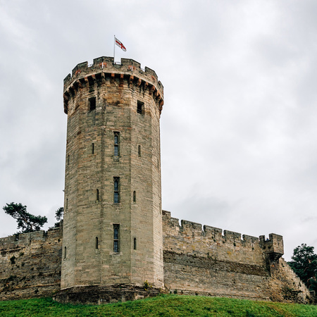 11th century: Warwick Castle. It is a medieval castle built in 11th century by William the Conqueror and a major touristic attraction in UK.