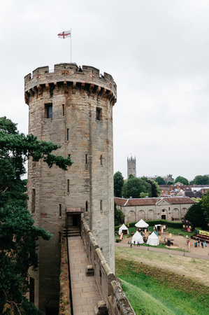 conqueror: Warwick Castle. It is a medieval castle built in 11th century by William the Conqueror and a major touristic attraction in UK.