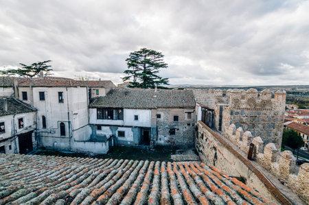 Avila, Spain - November 11, 2014:  The Medieval Walls of Avila