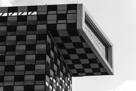 Rottedam, The Netherlands - August 6, 2016: Modern architecture office building in Rotterdam. Last years many new towers have arisen, and new iconic buildings designed in Rotterdam Editorial