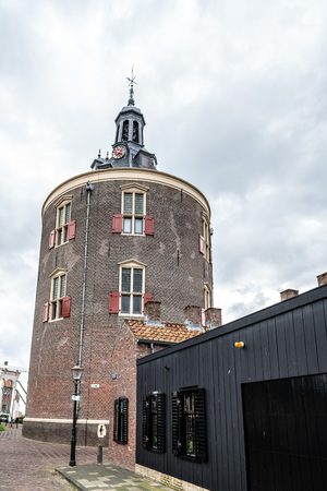 Enkhuizen, Netherlands - August 5, 2016: Drommedaris is a historic gate in Enkhuizen in North Holland, today it is used as a cultural center and for special events.